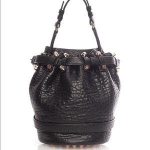 DIEGO Bag Black Leather Rose Gold Alexander Wang